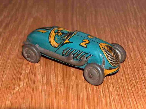 Ingap Tin-Penny Toy Racing car lettering 2
