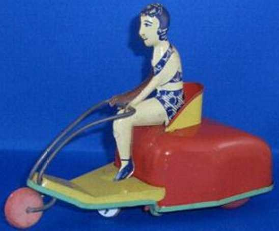 Buffalo Toys Tin-Figures vintage Tin Wind-Up Motorcycle Scooter