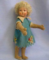Bing Dolls Cloth art doll, composition-head with mohair...