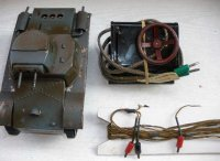Bub Military-Vehicles Electric Tank in field-gray, with...