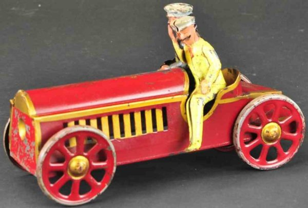 Schieble Tin-Race-Cars Early sport racer, scarce pressed steel example, painted in