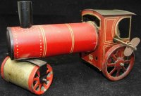 Bing Tin-Tugs/Rollers Steam roller lithographed, wind-up toy