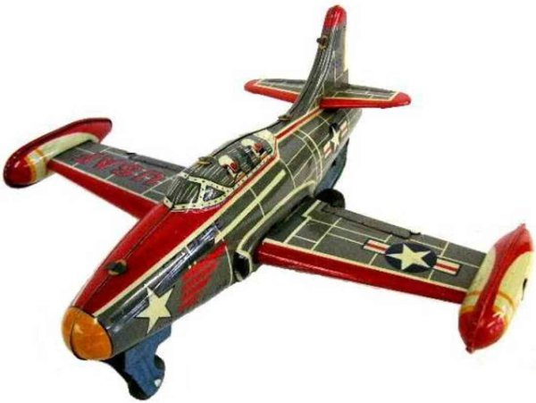 Mitsuhashi Tine Ariplanes F-54 USA jet fighter airplane with friction drive