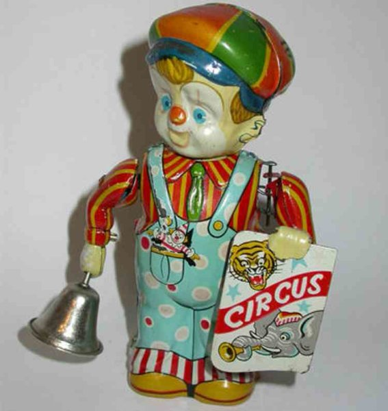 Nikko Toy Industry Tin-Figures Circus boy wind-up toy