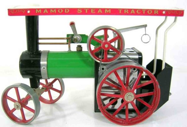 Mamod Steam Toys-Steamroller Tractor with oscillating cylinder, whistle and water level i