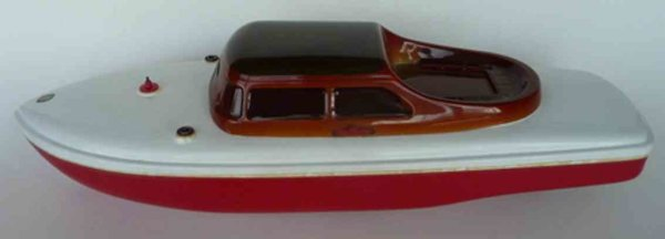 Arnold Celluloid-Ships RADARMASTER Yacht radio-remote-controlled speedboat, trunk a
