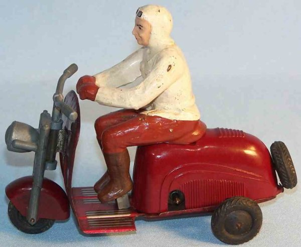 Wimmer Heinrich HWN Tin-Motorcycles Motor scooter LAMBRETTA made of tin, bakelite and mass fig