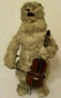 Rouillet & Decamps Tin-Automata Bear with cello as automaton