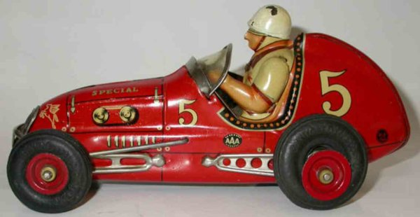 Tomiyama Trading Co. Ltd Tin-Race-Cars Midget racer of tin with friction drive