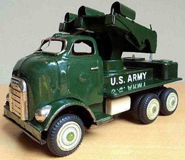 Yonezawa Military-Vehicles GMC Chevrolet US Army rocket launcher truck