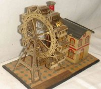 Unknown Tin-Carousels Ferris wheel, tin wind-up toy, 1878...