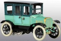 Orobr Tin-Oldtimer Sedan wind-up tin toy in scarcer green...