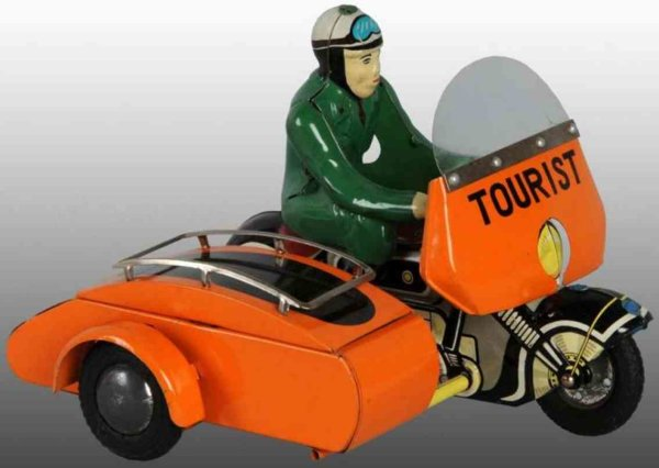 TPS Tin-Motorcycles Motorcycle with sidecar of tin, with friction drive, sidecar