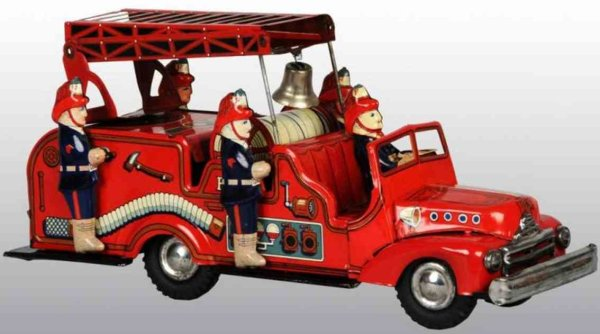Hadson Tin-Fire-Truck Fire truck of tin with friction drive, large size variation