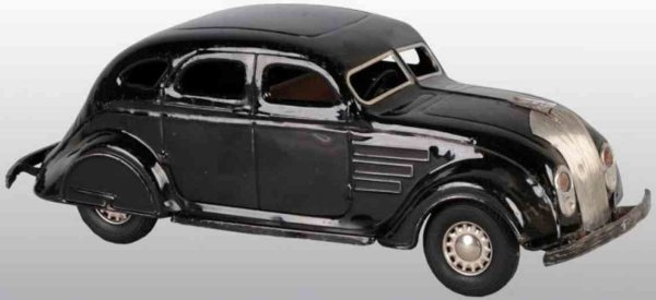 Corcoran Tin-Cars Airflow automobile of pressed steel with black rubber tires