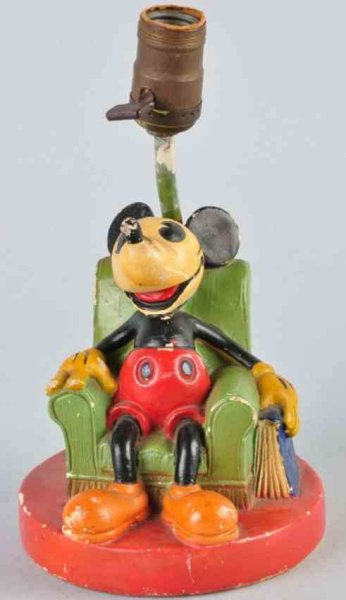 Soreng Mangold Co Mass_Figures Mickey Mouse lamp base of composition, Mickey is depicted as
