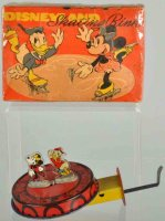 Mettoy Tin-Toys Disney Minnie and Donald skating ring toy...