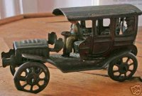 PAYA Tin-Penny Toy Vehicle with driver, lithographed