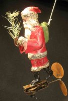 Guenthermann Tin-Figures Flying Santa Claus hand-painted...
