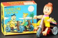 Marx Tin-Figures Wilma Flintstone on tricycle, includes...