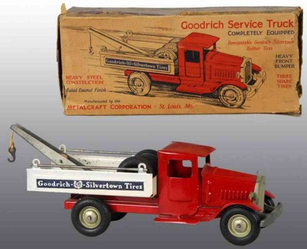 Metalcraft Corp. St Louis Vehicles-Trucks wrecker red white