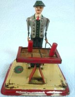Doll Steam Toys-Drive Models Xylophone player in Bavarian...