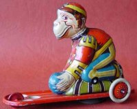 Unknown Tin-Figures circus monkey, does not fall from the...