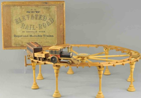 Shepherd CO Wood-Toys Boxed elevated reilaroad toy set, made from C.O. Shepherd, N