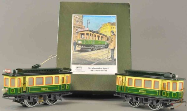 Swiss-Rex Tin-Trams Trolley set incredible detail and quality craftsmanship, box