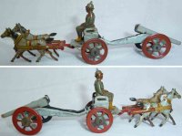 Meier Tin-Penny Toy Army coach, 1-axle military team,...