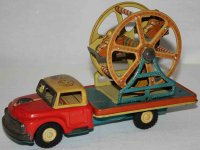 Nomura Toys Tin-Trucks Truck with ferris wheel and...