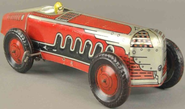 General Toy Product Tin-Race-Cars Racer made of lithographed tin in colorful graphic detail ov