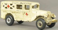 Arcade Cast-Iron trucks City ambulance car made of cast...