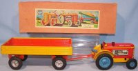 Gescha Tin-Tugs/Rollers Tractor with trailer in original...