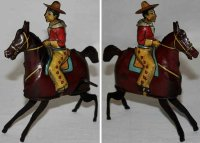 Guenthermann Tin-Figures Bucking Bronco cowboy with...