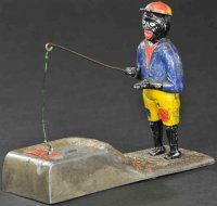 Bailey Charles Cast-Iron-Mechanical Banks Darky fisherman...