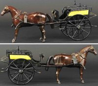 Ives Cast-Iron-Carriages Oversize dog cart, one of three...