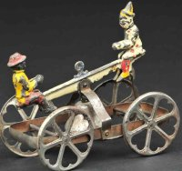 N.N. Hill Brass Co Cast-Iron Figures See-saw as bell toy,...