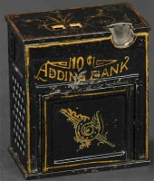 Unknown Cast-Iron-Mechanical Banks Ten cent adding...