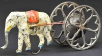 Ives Tin-Figures Elephant chime tumbler, hand painted tin...