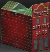 Unknown Cast-Iron-Mechanical Banks Presto Savings...