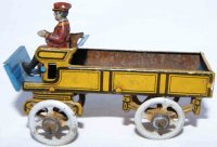 Fischer Georg Tin-Penny Toy Motor truck in light brown...