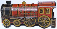 Levy George (Gely) Tin-Penny Toy Steam locomotive in red...