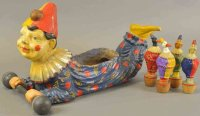 Unknown Wood-Toys Clown skittle, Germany, an exceptional...
