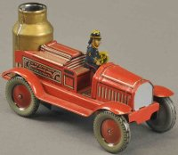 Arnold Tin-Penny Toy Fire pumper, clockwork operation,...