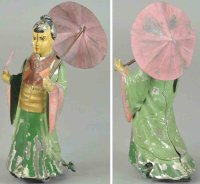 Guenthermann Tin-Figures Oriental with umbrella, toy done...