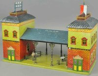 Bing Railway-Stations Train station #8382, hand painted...