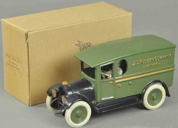 Hudson Scott & Sons Ltd Cast-Iron trucks Delivery van, modern, classic-cast, modeled from 1928 Buick