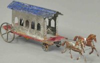 Merriam Tin-Carriages Horse drawn trolley, early American...