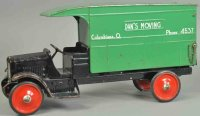 Steelcraft Tin-Trucks GMC moving van, open cab painted in...